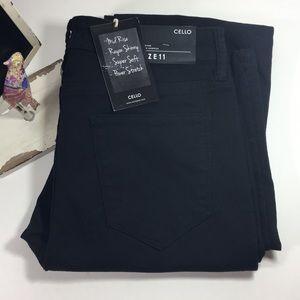cello Jeans - Cello black flare wide-leg denim trousers• C006
